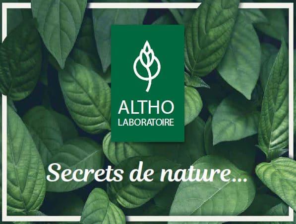 Ingrédients cosmétiques bio laboratoire Altho